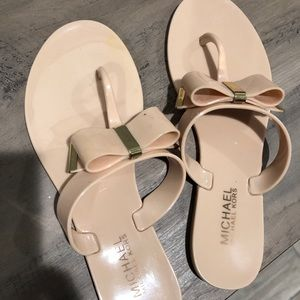 Michael Kors Cream Bow Sandals